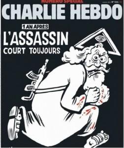 Caricature à la Une de Charlie en 20