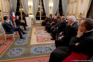 François Hollande présente ses voeux aux religions