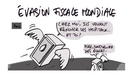 Caricature humoristique sur le fraude fiscale