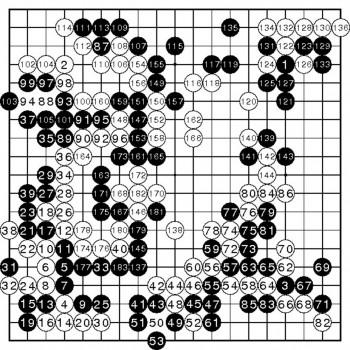 Fan Hui contre AlphaGo, jeu numéro 2, 27 février 2016. Alzinous/Wikipédia, CC BY-SA