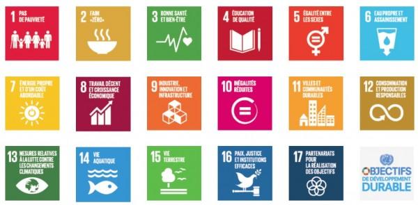 ODD : 17 Objectifs de Développement Durable